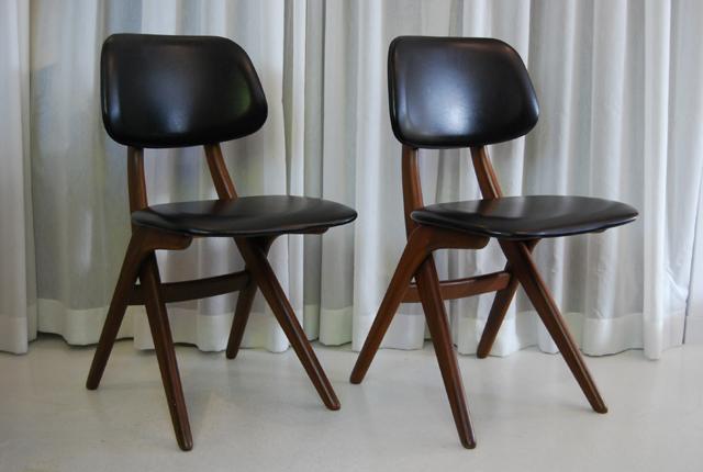 Retro vintage Louis van Teeffelen stoelen    Webe jaren 60    DE GELE ETALAGE