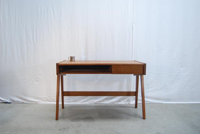 Modern jaren teakhouten bureau teak desk de gele etalage