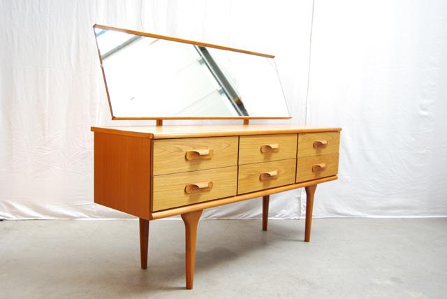 Jaren 60 teakhouten deens dressoir teak sideboard danish de gele etalage - Dressoir met spiegel ...