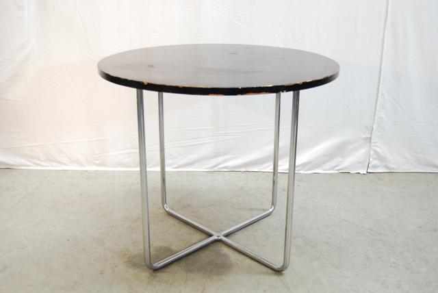 Zwarte tafel moooi container tafel rond zwart