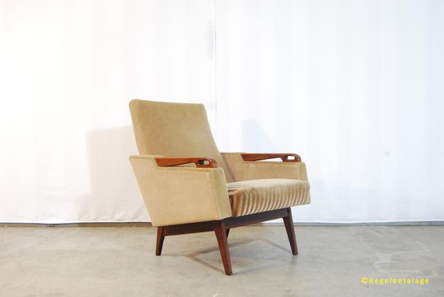 Vintage jaren 60 fauteuils met mooie teakhouten for Mooie design fauteuils