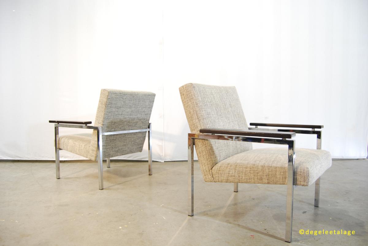 Vintage design fauteuils van gijs van der sluis jaren 60 for Dutch design eetkamerstoelen