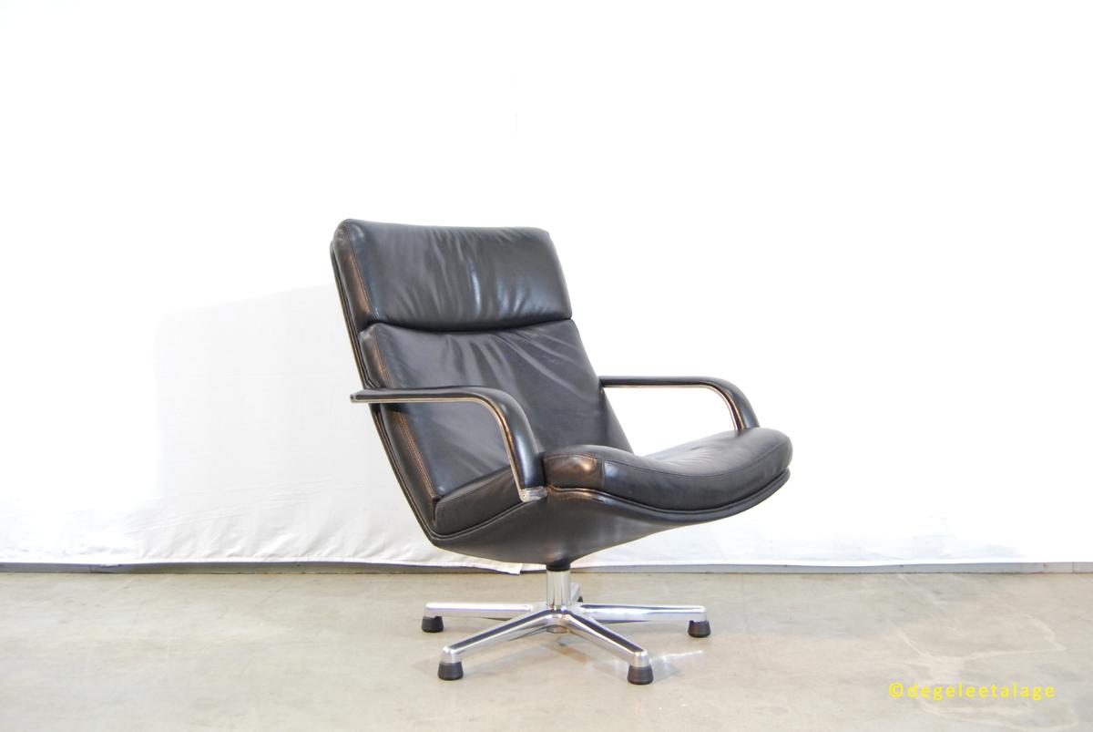 Artifort Fauteuil Leer.Jaren 80 Lounge Fauteuil F141 Artifort Geoffrey Harcourt