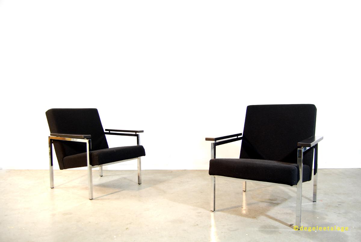 Design Slaapbank Gijs Van Der Sluis 540.Vintage Design Fauteuils Gijs Van Der Sluis Jaren 60 Dutch