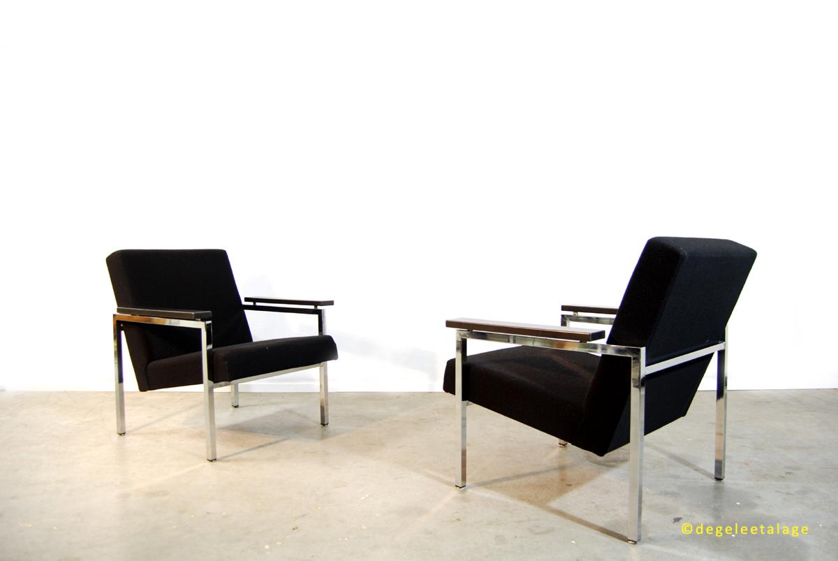 Vintage design fauteuils gijs van der sluis jaren 60 for Dutch design eetkamerstoelen