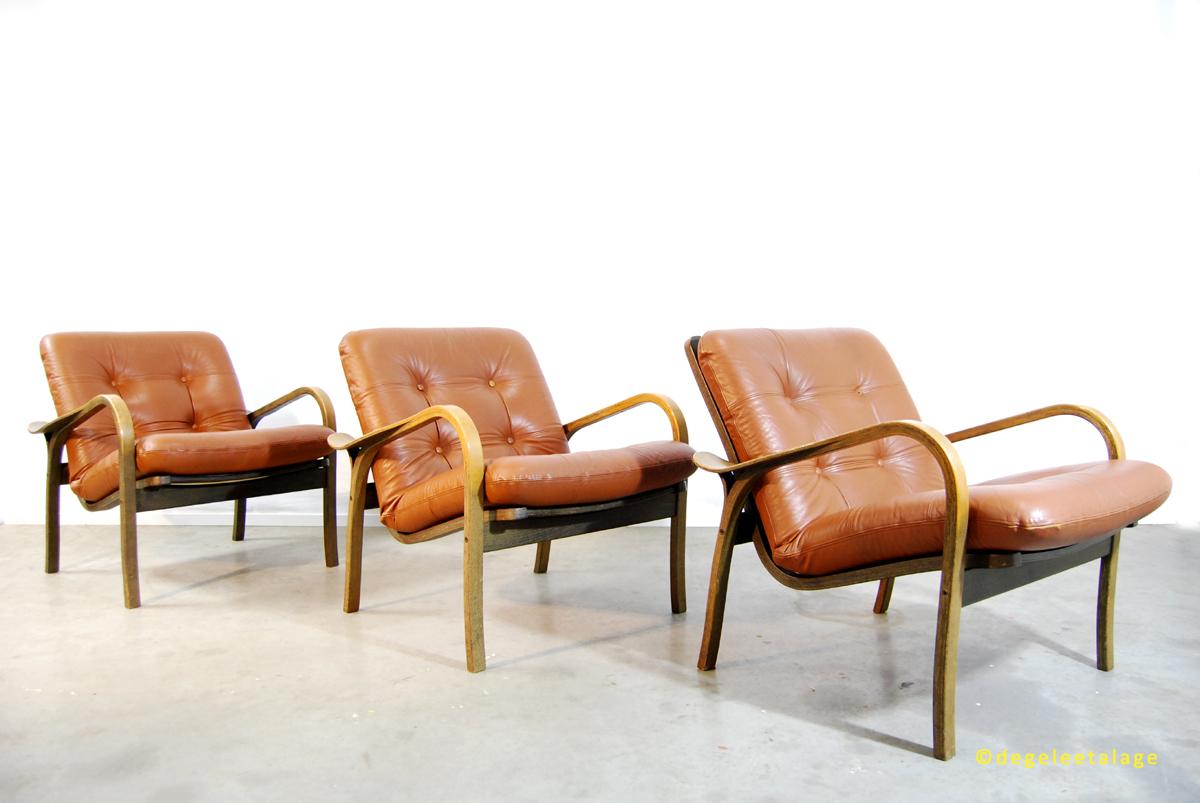 Vintage jaren 70 Ekstrom fauteuil Yngve Ekstrom Swedese DE GELE ETALAGE