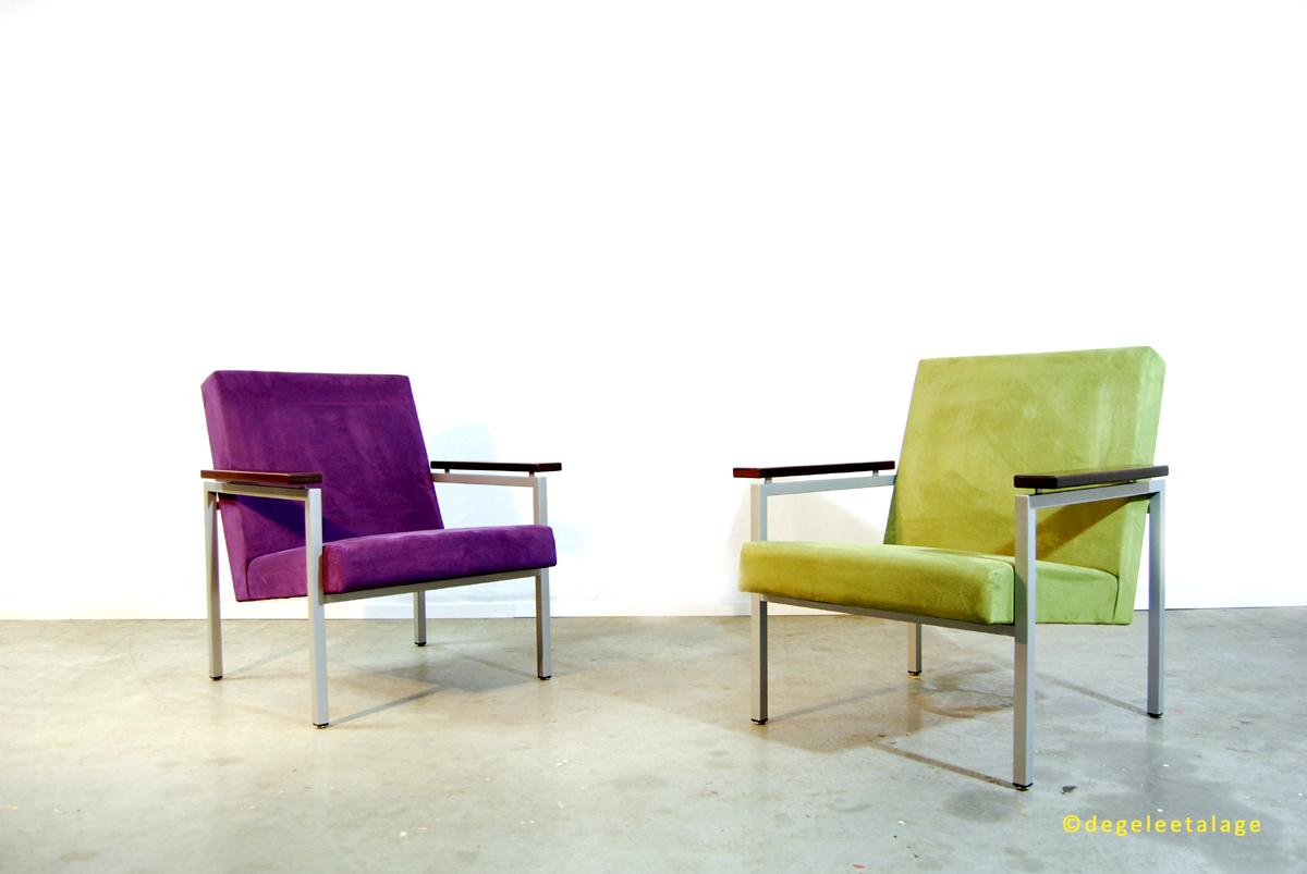 Design fauteuil gijs van der sluis jaren 60 dutch for Paarse eetkamerstoelen