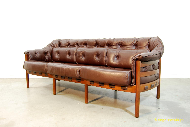 Zweeds Design Bank.Vintage Jaren 60 Leren Design Bank Arne Norell Coja