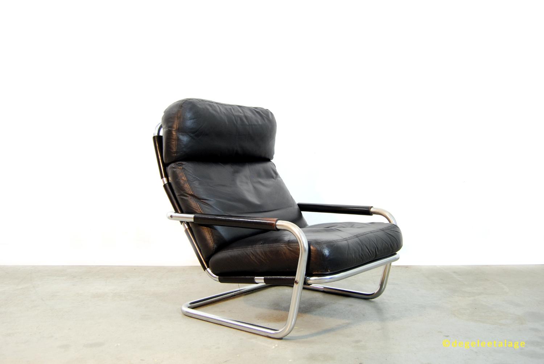 Vintage jaren 70 oberman fauteuil jan des bouvrie gelderland de gele etalage - Zeer comfortabele fauteuil ...