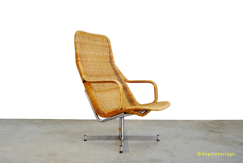 Dutch Design Fauteuil Gebr Jonkers Pastoe Jaren 60 Retro.Vintage Jaren 60 Rotan Draaifauteuil Dirk Van Sliedregt Gebr