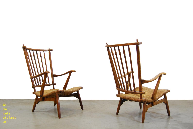 Twee Klassieke Fauteuils.Klassieke Teakhouten Vintage Fauteuil De Ster Geldermalsen