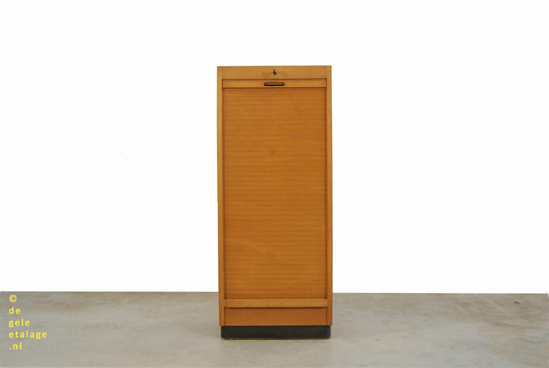 Ongekend Vintage berkenhouten roldeur kast / Ekawerk Lippe / Horn / 1950s DF-56