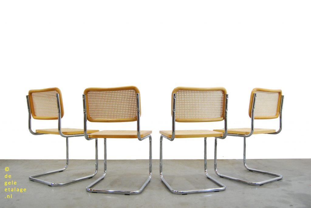 Namaak Design Stoelen.Set Van 4 Vintage Cesca Design Stoelen Marcel Breuer Italy