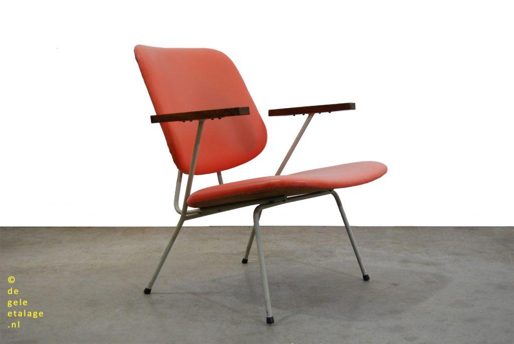 Houten Design Fauteuil.Industriele Vintage Design Fauteuil Kembo Gispen 1950s