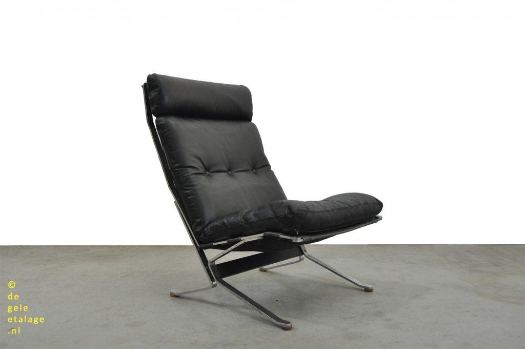 Design Fauteuil Chroom.Sale Vintage Design Fauteuil Met Chroom En Leer Olivier